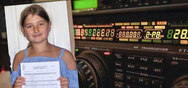 11 year old Izzy Tighe earns her Foundation Licence for Amateur Radio