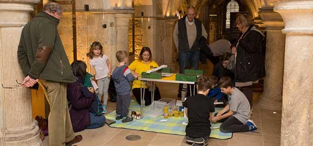 Future bridge builders help open exhibition about the past