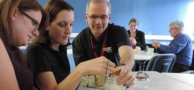 Teachers Engineer Working Vacuum Cleaners with STEM Ambassadors